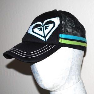Roxy Black Logo Trucker Hat Cap